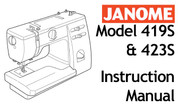 janome my style 20 instruction manual