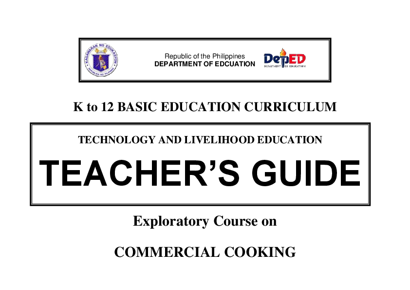 training manual table of contents