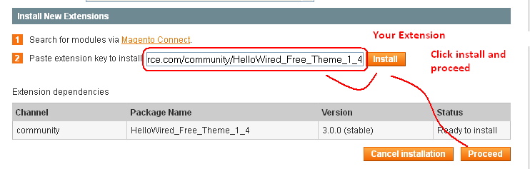 how to install theme in magento manually