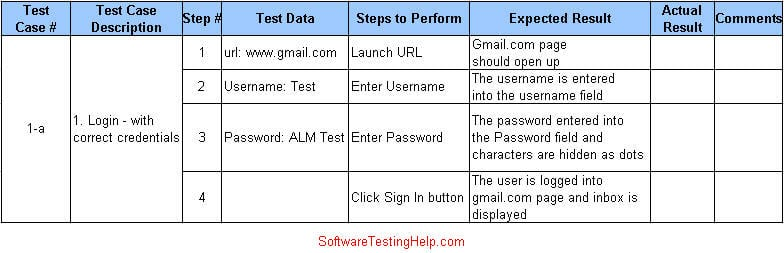 test plan template for manual testing